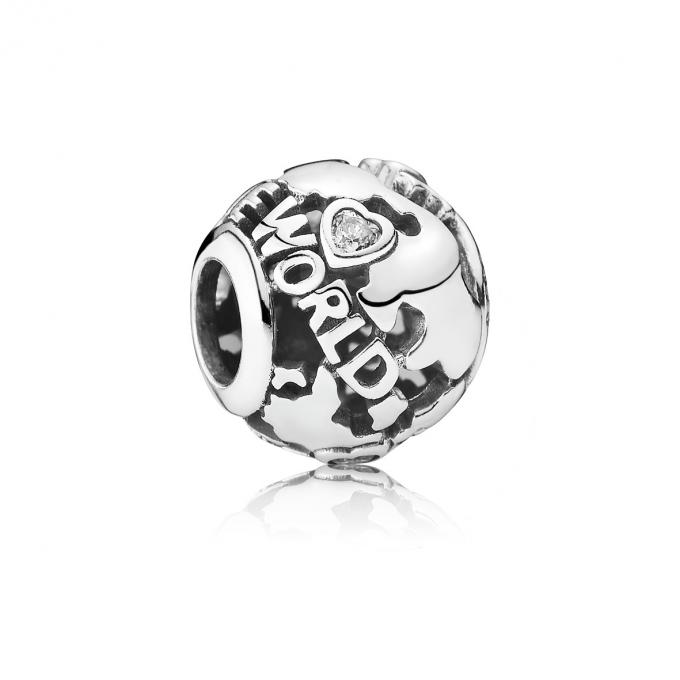 Pandora Charm Around the World Ajouré 791718CZ