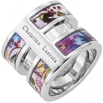 Christian Lacroix Bijoux - Bague Multicolore Double - Promotions Bijoux Charms