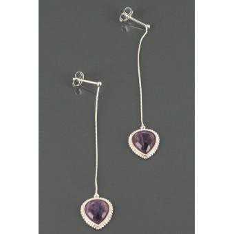 Boucles d'oreilles Satellite Violet TQ05TP/AM