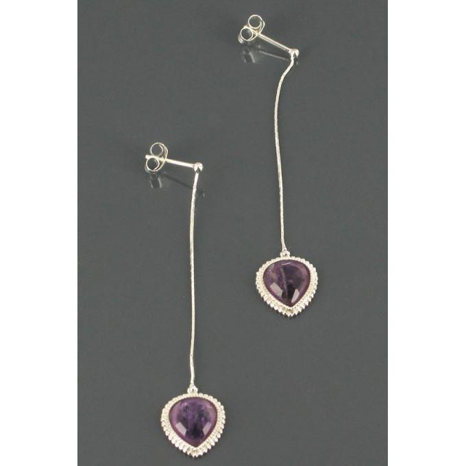 Boucles d'oreilles Satellite Violet TQ05TP/AM Satellite
