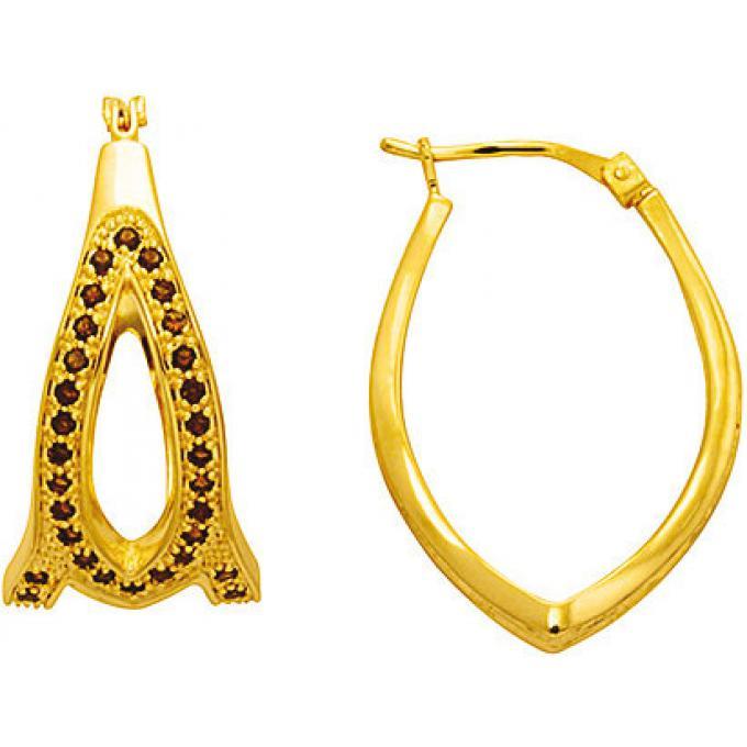 Kenzo Boucles d'oreilles Plaqué Or Strass 70193270116 Kenzo