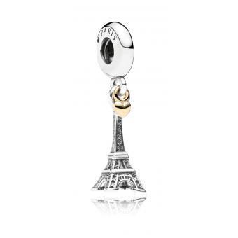 Pandora - Charm bicolore pendentif Tour Eiffel avec coeur