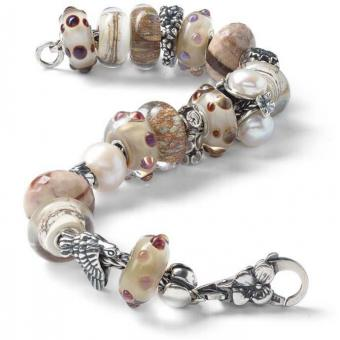 Trollbeads - Bracelet composé SOPHISTICATED IN BEIGE - Bracelet charms compose