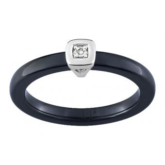 Ultimate Ceramic - Bague céramique noire Ultimate multi-diamant - Promotions Bijoux Charms