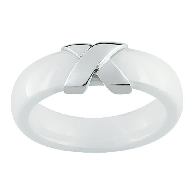 Ultimate Ceramic Bague céramique blanche Or blanc 09C43GCB-52 Ultimate Ceramic