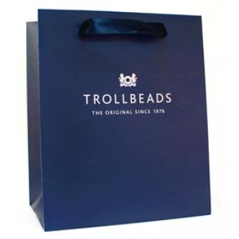 Trollbeads Perle argent triples perles blanches Argent TAGBE-00094