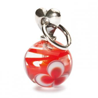 Trollbeads Perle argent verre de Murano pendentif Saint Valentin rouge TAGBE-00025