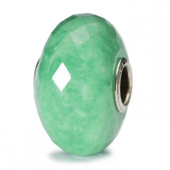 Trollbeads - Perle argent amazonite à facettes - Perle trollbeads