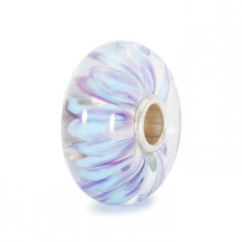 Trollbeads Perle argent verre de Murano pétales blanches TGLBE-10098