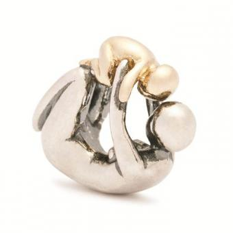 Trollbeads - Perle argent et or maternité - Charms or