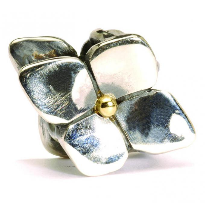 Trollbeads Perle trois trous argent hortensia grimpant TAGPE-00029 Trollbeads