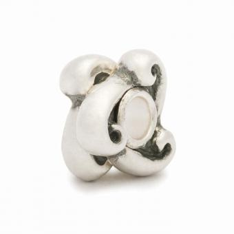 Trollbeads Perle argent rolling waves TAGBE-50011