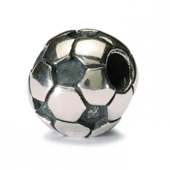 Perle argent ballon de football