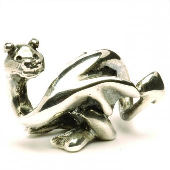 Trollbeads Perle argent dragon chanceux TAGBE-50026
