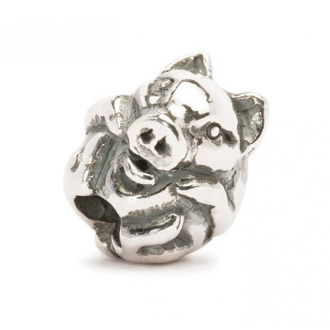 Trollbeads Perle argent cochon chinois TAGBE-40031 Trollbeads