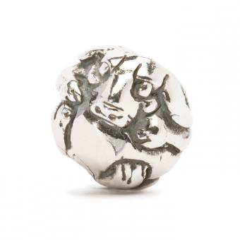 Trollbeads Perle argent chien chinois TAGBE-40030
