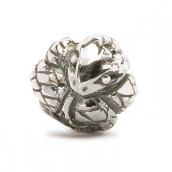 Trollbeads Perle argent serpent chinois TAGBE-40025