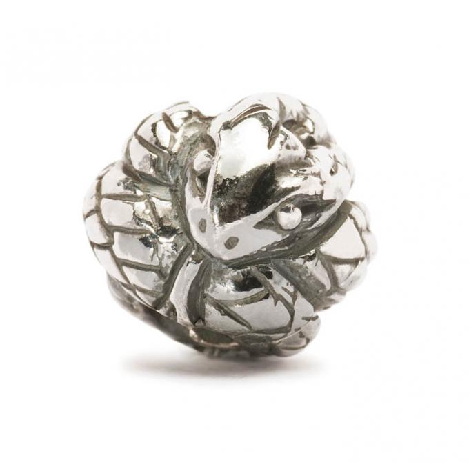 Trollbeads Perle argent serpent chinois TAGBE-40025 Trollbeads