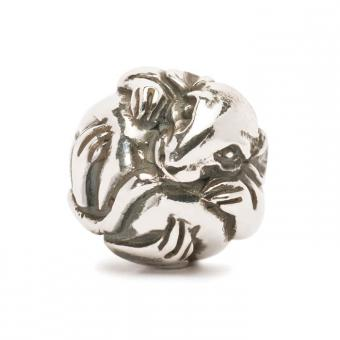 Trollbeads Perle argent rat chinois TAGBE-40020