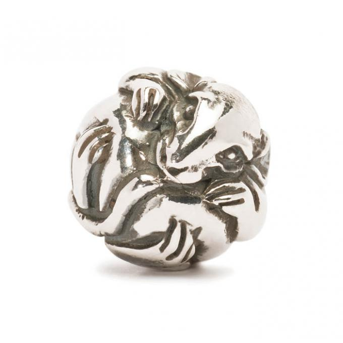 Trollbeads Perle argent rat chinois TAGBE-40020 Trollbeads