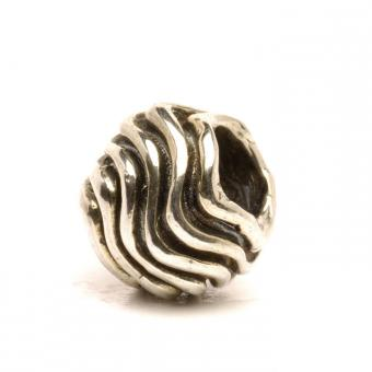 Trollbeads Perle argent vagues TAGBE-40046