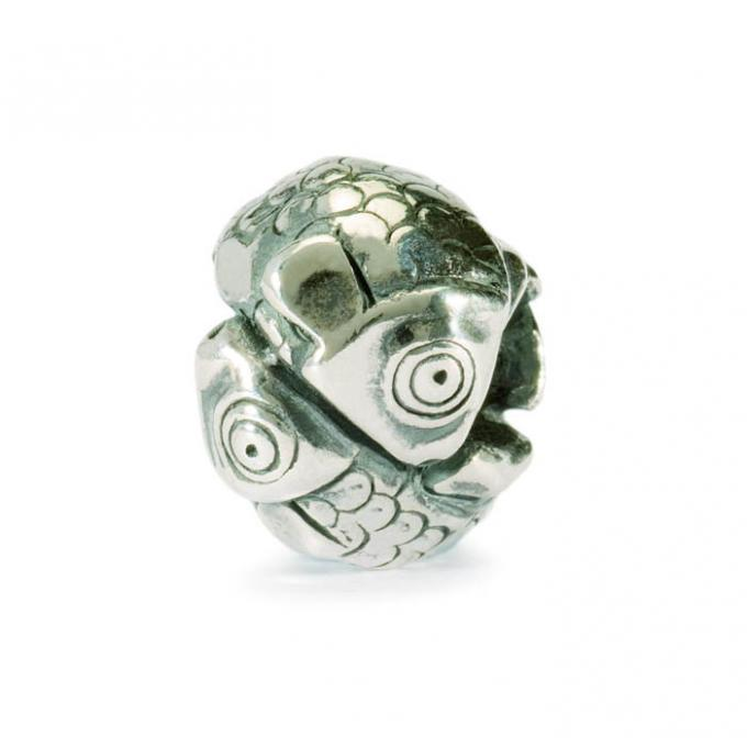 Trollbeads Perle argent poissons TAGBE-30105
