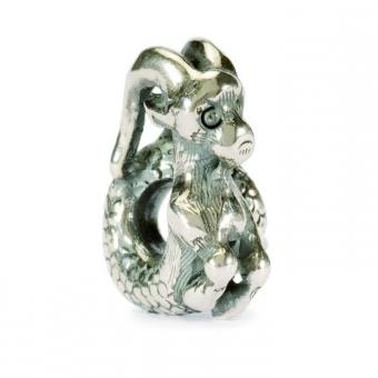Trollbeads - Perle argent capricorne - Charms croix