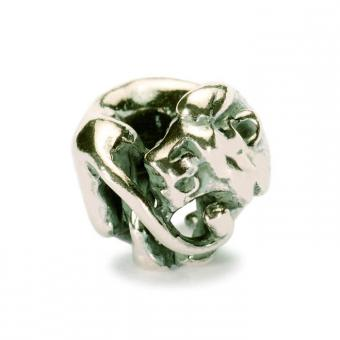 Trollbeads Perle argent lion TAGBE-30108