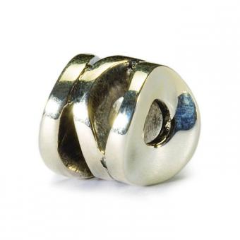 Trollbeads Perle argent cylindre du sourire TAGBE-30094