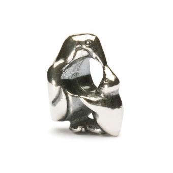 Trollbeads Perle argent pingouin & bébé TAGBE-20037