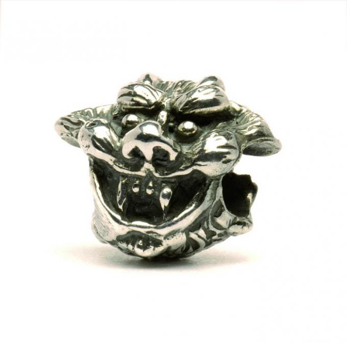 Trollbeads Perle argent ange & diable TAGBE-20087