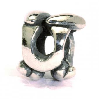 Trollbeads - Perle argent u - Charms lettre