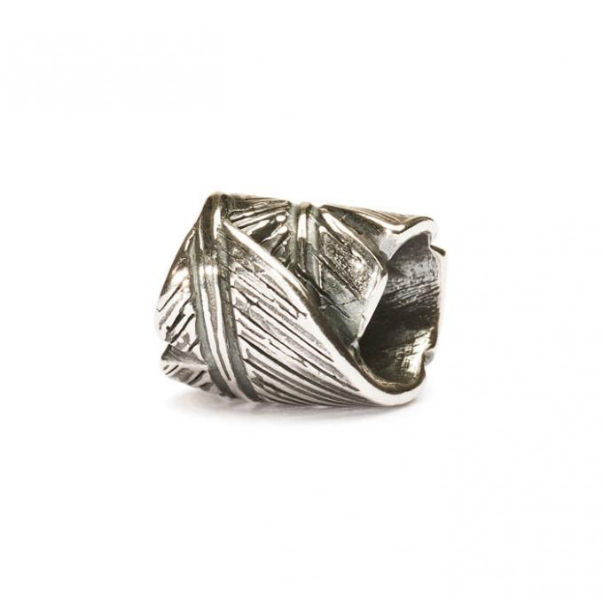 Trollbeads Perle argent plume TAGBE-10017
