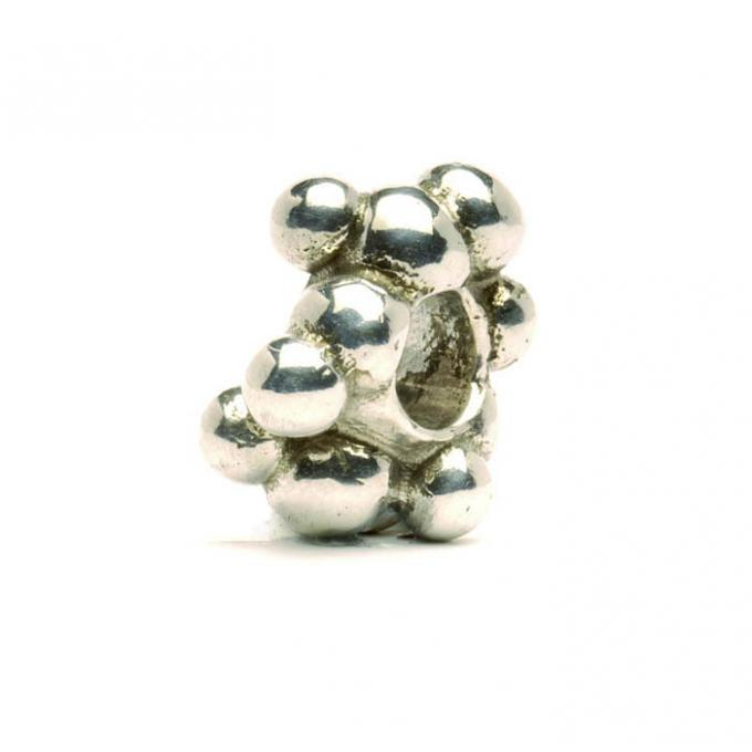 Trollbeads Perle argent cellules TAGBE-10091