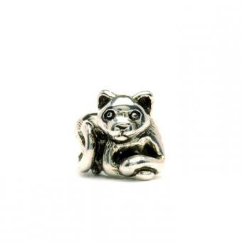 Trollbeads Perle argent chaton TAGBE-10055