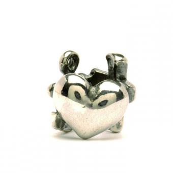 Trollbeads Perle argent croyance, espoir et amour TAGBE-10052