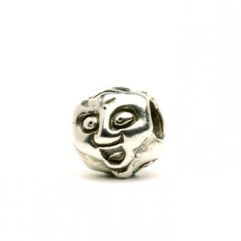 Trollbeads Perle argent visages TAGBE-10046