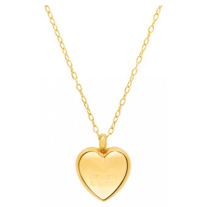 profitez de la livraison gratuite comment acheter top design Collier argent doré pendentif coeur 50 cm 88200 Plus d'infos