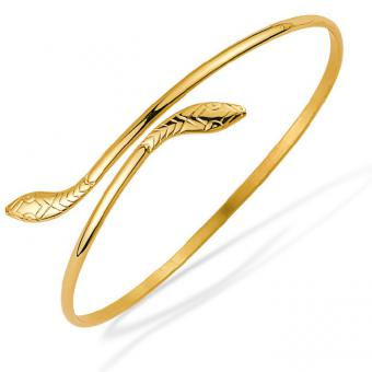 Lookéor Bracelet rigide plaqué or en forme de serpent 10026750100065
