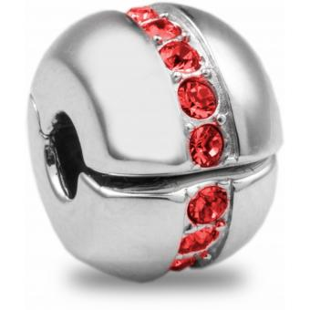 Amore & Baci - Charm Cristaix Rouge Argent 12102 - Perle amore et baci