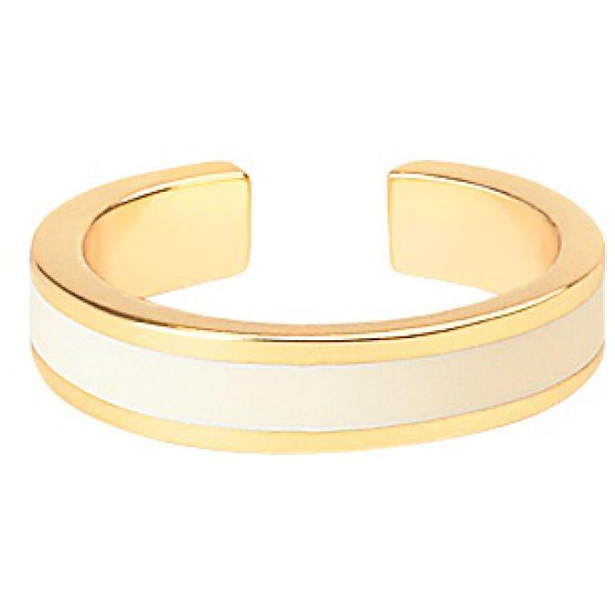 Bangle Up Bague Bangle Up BUP06-BAN-BAG03 - Anneau ajustable en laiton plaqué 3 microns bronze doré émaillé Femme BUP06-BAN-BAG03 Bangle Up