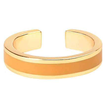 Bangle Up Bague Bangle Up BUP06-BAN-BAG50 - Anneau ajustable en laiton plaqué 3 microns bronze doré émaillé Femme BUP06-BAN-BAG50