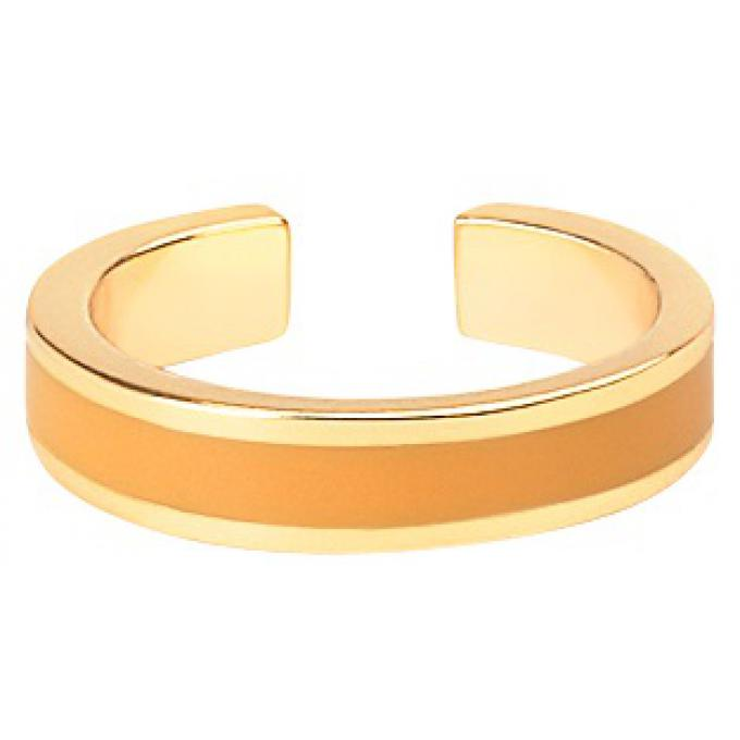 Bangle Up Bague Bangle Up BUP06-BAN-BAG50 - Anneau ajustable en laiton plaqué 3 microns bronze doré émaillé Femme BUP06-BAN-BAG50 Bangle Up