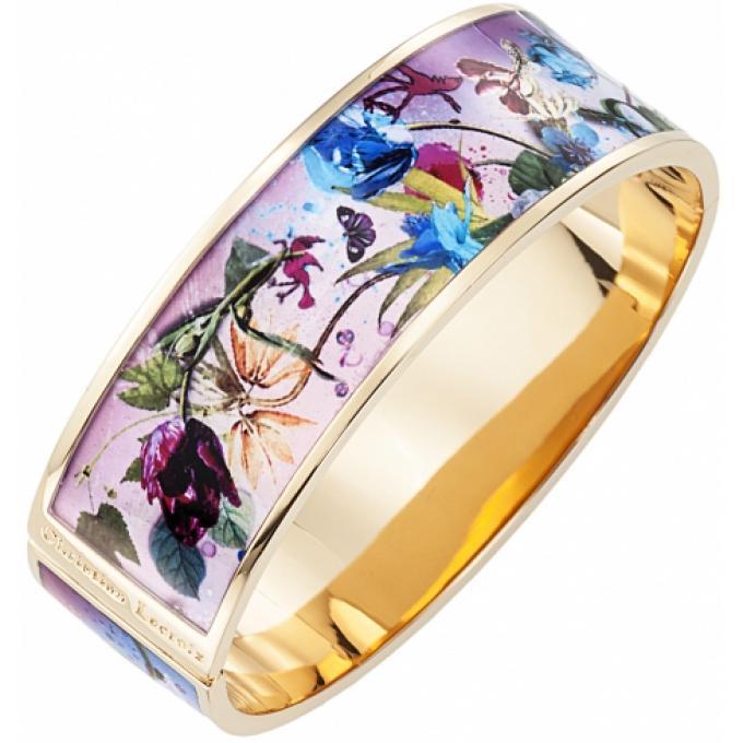 bracelet acier fleuri christian lacroix bijoux bracelet sur look or. Black Bedroom Furniture Sets. Home Design Ideas