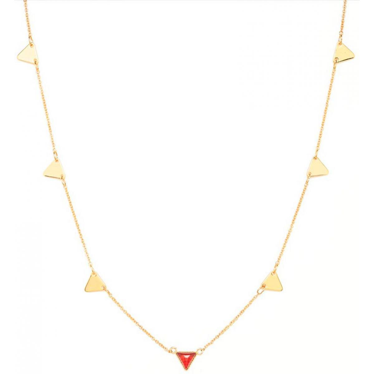 collier femme or rouge