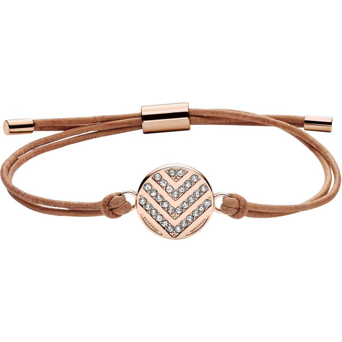 bracelet cuir femme fossil