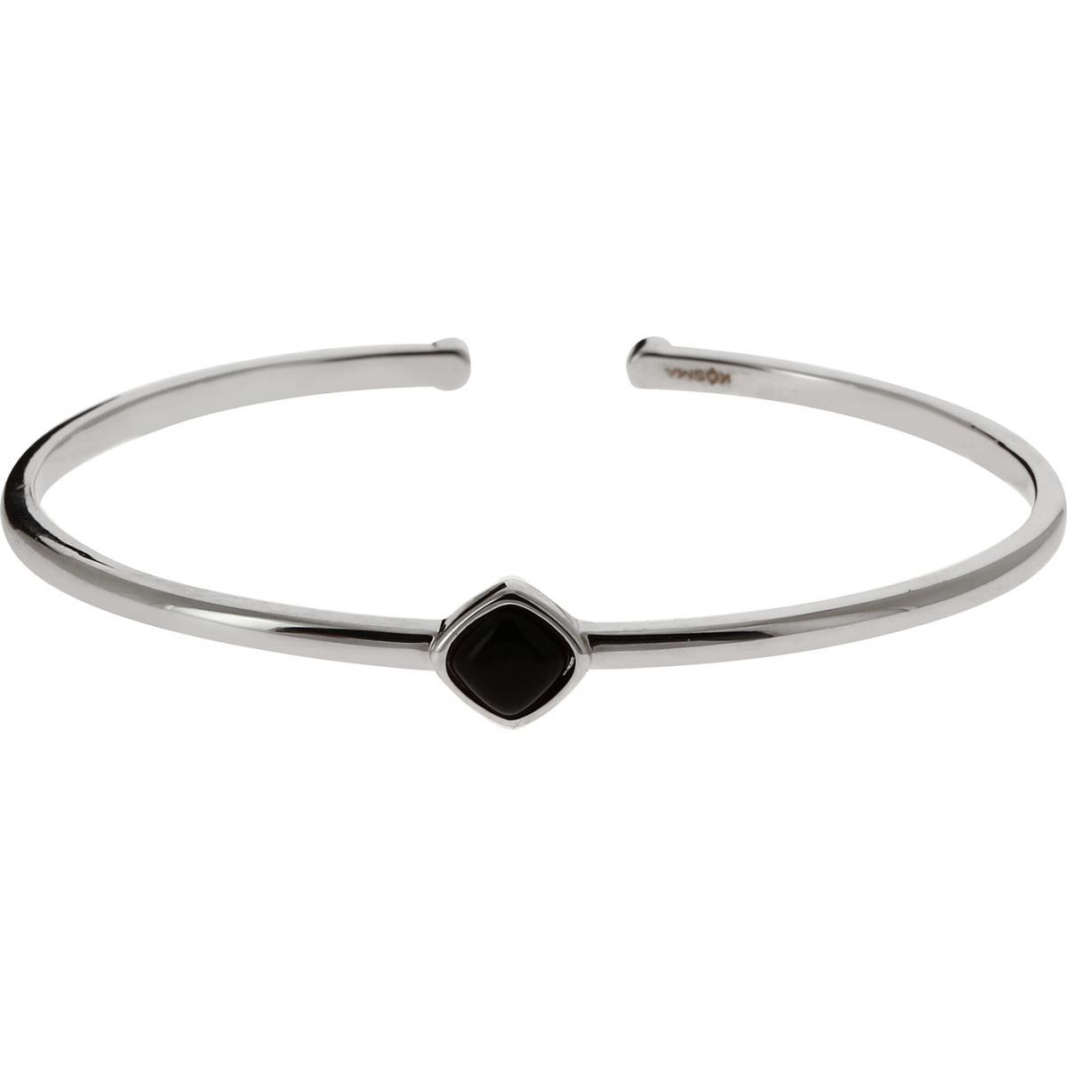 bracelet argent et noir femme