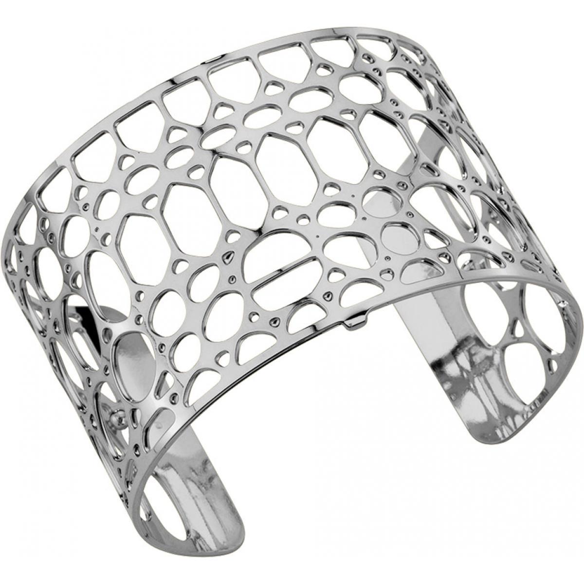 Bracelet Crocodile  Argenté Large