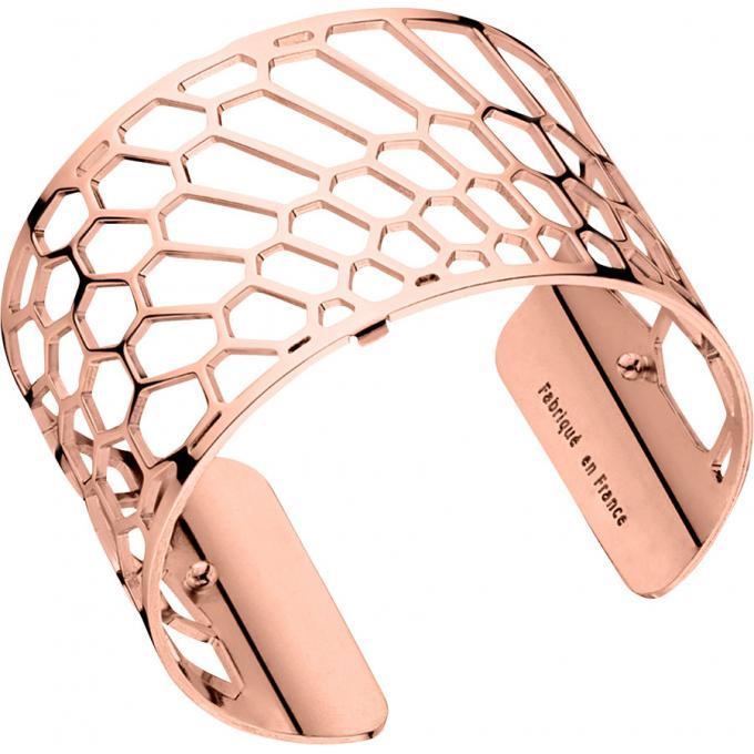 Les Georgettes Bracelet Nid d\u0027abeille Or Rose Large 70285704000