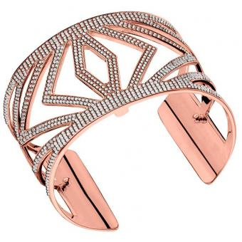 Bracelet Chevrons Laiton Finition Or Rose 40 mm